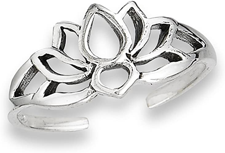 Silver Toe Ring,Flower Toe Ring,Hand Made Toe Ring,Body Jewelry
