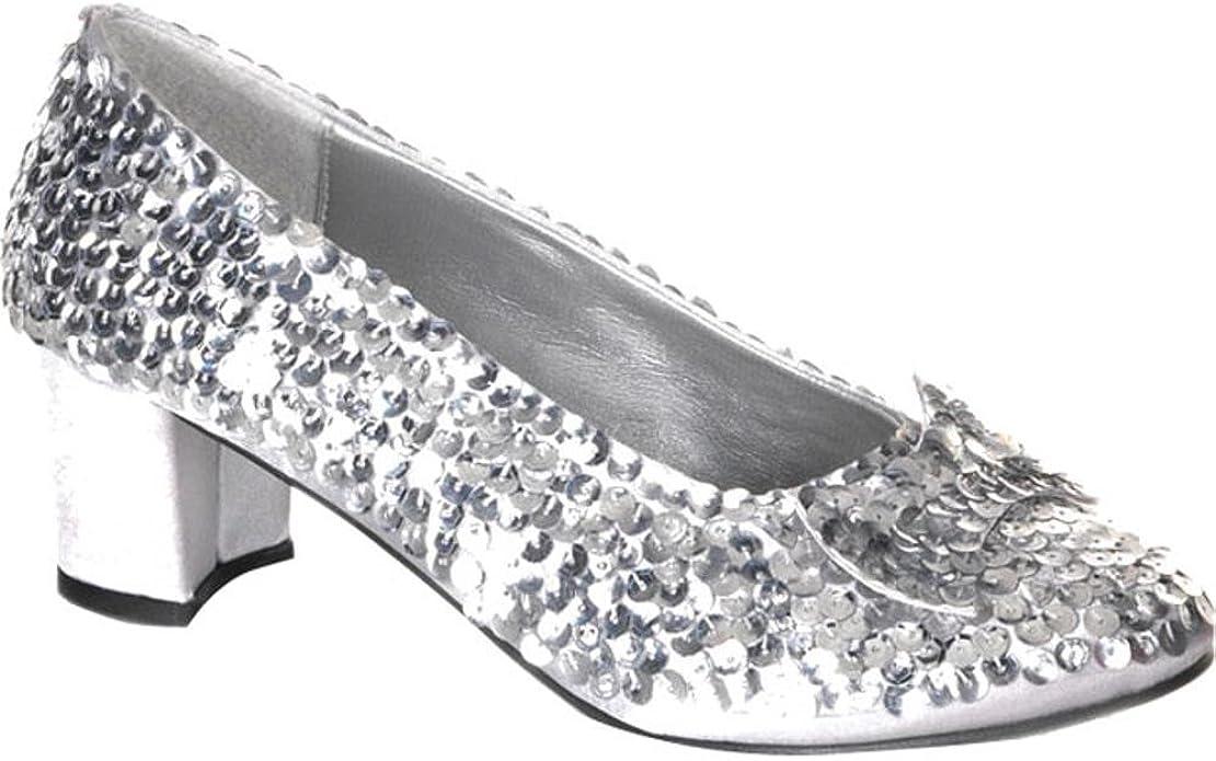 Silver Sequin Shoes (Size:Medium 13
