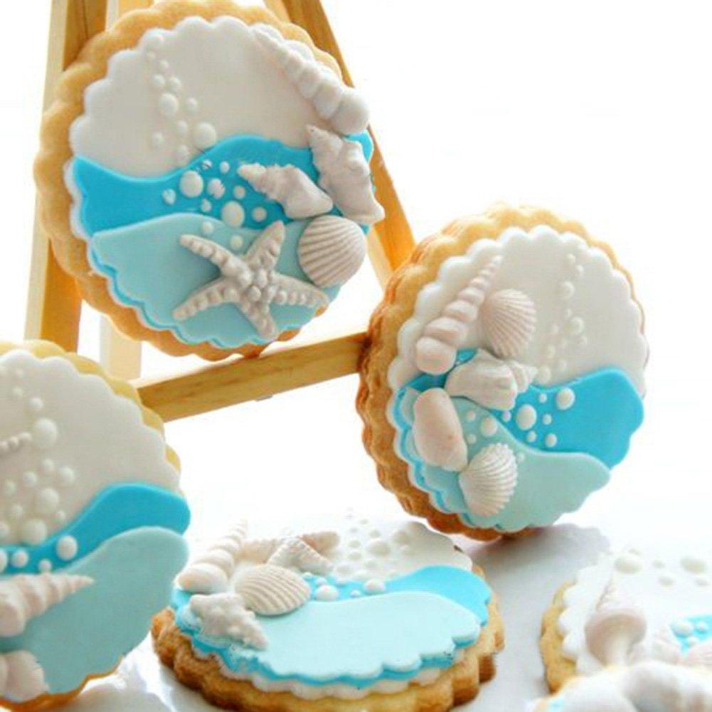 SK Seashells Silicone Candy Mold Fondant Cake Decoration Mold Baking Decorating Tool