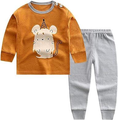 Puimentiua Pijama de Dos Piezas para Niños 2 Pcs Conjunto Chandal ...