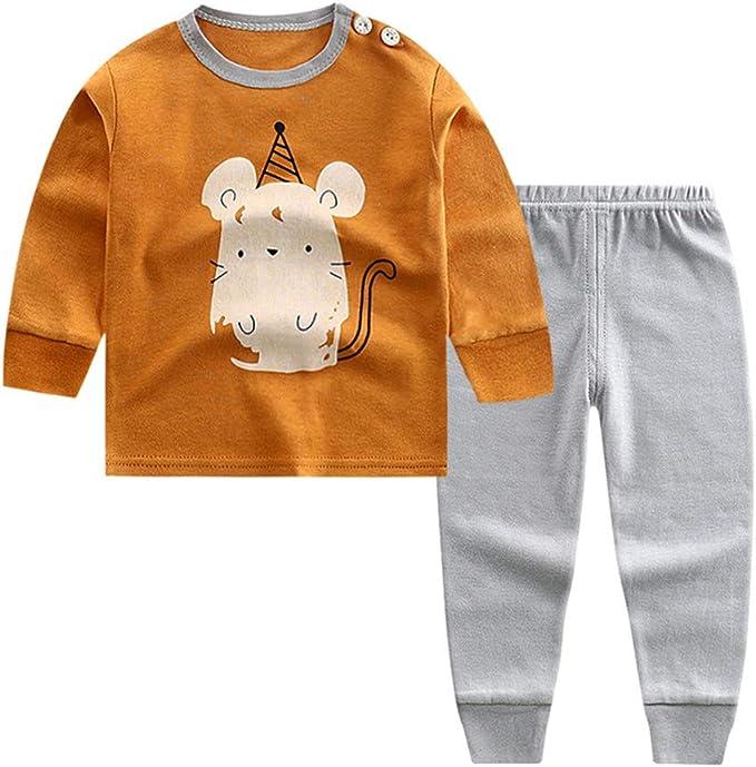 Puimentiua Pijama de Dos Piezas para Niños 2 Pcs Conjunto ...