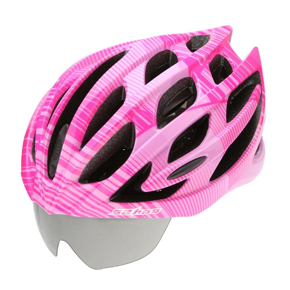 Abnehmbare Schutzbrille Helme - Premium Qualität Airflow Bike Helm Spezialisiert für Road & Mountain Biking - Safety Certified Fahrradhelme für Erwachsene Männer & Frauen, Teen Boys & Girls - Bequem, Leicht,