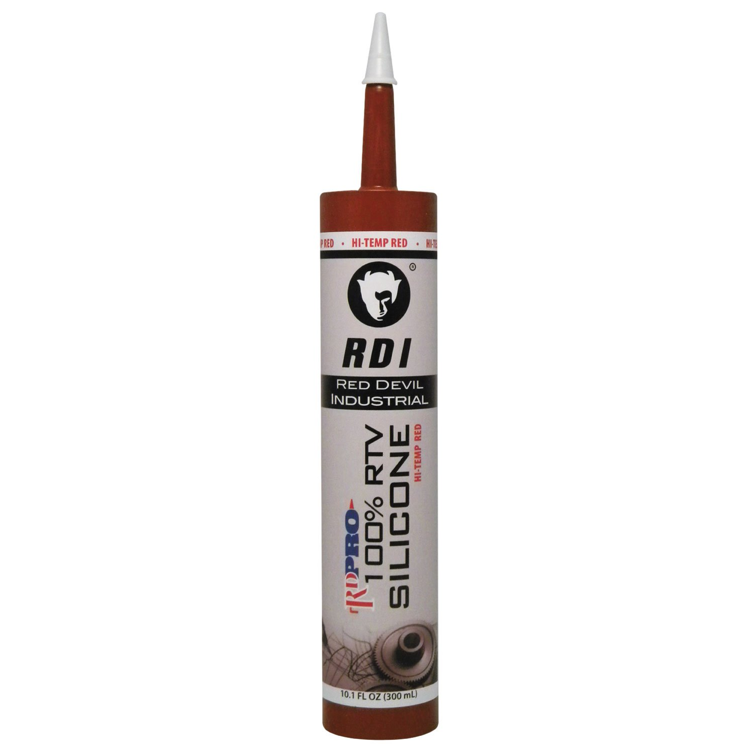 Red Devil 08090I RD PRO 100% Heat Resistant RTV Silicone Sealant, 10.1 oz., Red