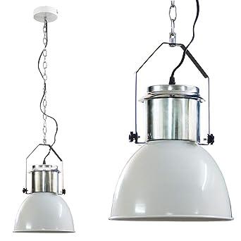 Industriedesign Lampe 42 Cm Chrome Weiss Amazon De Beleuchtung