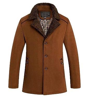 it Trench Giacca Amazon Uomo Fit Cappotto Semplice Slim Da Abbigliamento Stile Lana In qPq6wHp