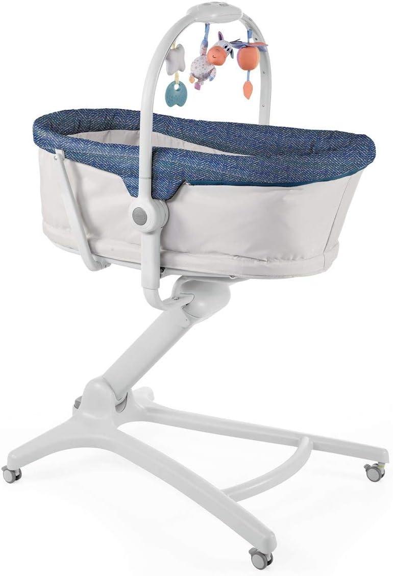 Chicco Baby Hug 4en1 - Sistema multifunción: moisés, hamaca, trona y silla, regulable en altura, color azul (Spectrum)