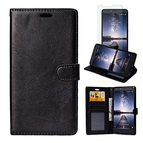 ZTE ZMAX Pro Case, ZTE Carry Z981 Case, FirstCover Wallet Folio PU Leather Flip Case Cover with Card Holder for ZTE ZMAX Pro/Carry Z981 [Free Screen Protector]