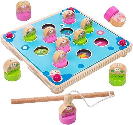SXPC Pesca Infantil Juguetes educativos 1-3-4 Juegos de Mesa ...
