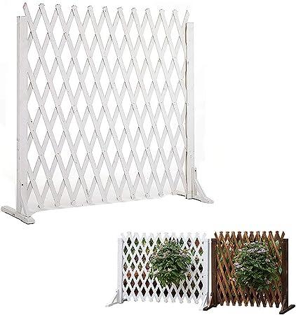 kaige Expandir Cerca del Perro de 80 cm de Alto Puerta de Seguridad barandilla Barrera Cerca de Madera Extensible Reforzado Jardín (Color: B) WKY (Color : A): Amazon.es: Hogar