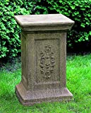 Campania International PD-109-GS Arno Pedestal, Grey Stone Finish
