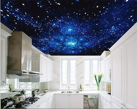 Rureng Papier Peint Ultra Réaliste Bleu Rêve Cosmos Planète