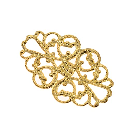 Kesheng 100x Mini Metallornamente Golden Silber Bronze Messing Handwerk Scrapbooking