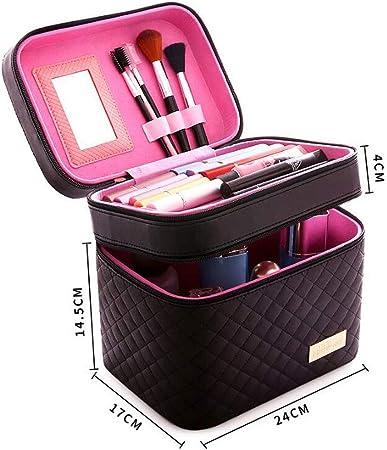 LUGEUK Viaje Maquillaje Caja de Tren Maquillaje Estuche de cosméticos Organizador Portátil Bolsa de Almacenamiento Artista Joyería estilográfica (Size : L24*w17*14.5cm): Amazon.es: Hogar