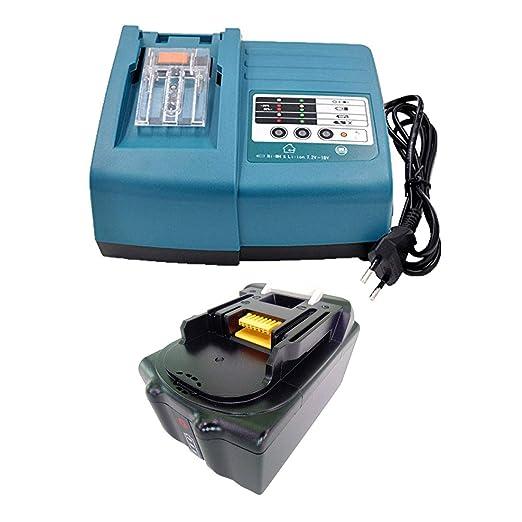 Batería de repuesto LED de 18 V 5,0 Ah + cargador para ...