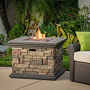 Crawford outdoor square liquid propane fire for Amazon prime fire pit