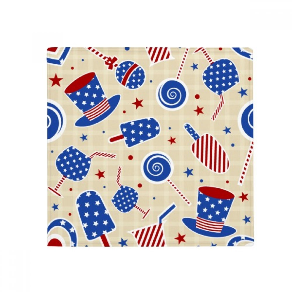 DIYthinker USA Hat Candy Ice Cream Star Festival Anti-Slip Floor Pet Mat Square Home Kitchen Door 80Cm Gift