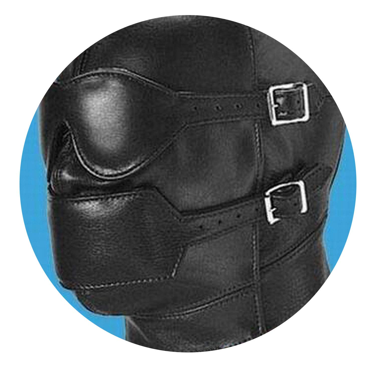 Amazon.com: Soft Leather Bondage Face Mask Eyepatch Gagged Headgear Adult  BDSM Bed Game Set: Health & Personal Care