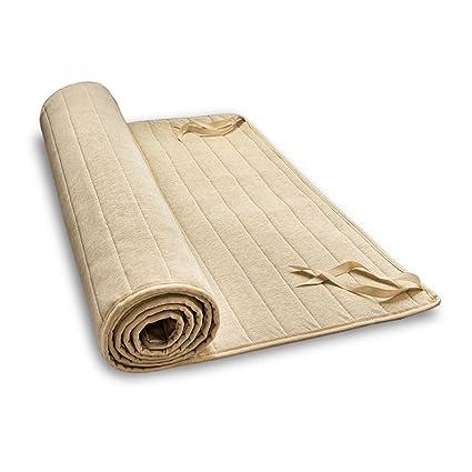 Lino Schoner bio de lino y algodón orgánico, algodón Berger. Colchón, colchón, 90x220 cm: Amazon.es: Hogar