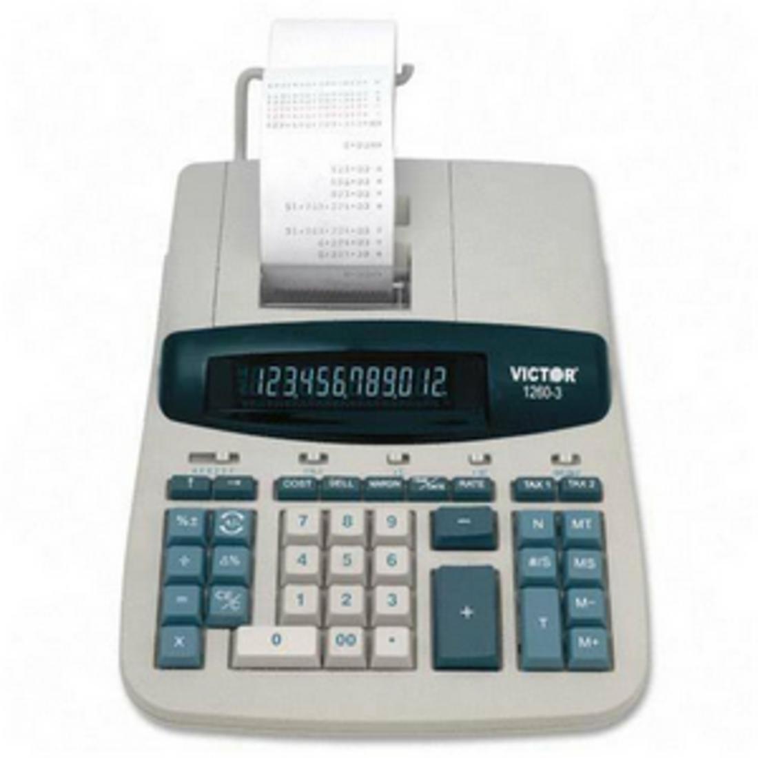 Victor 1260-2 Desktop Calculator, 12-Digit