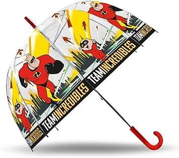 LOS INCREIBLES Paraguas Transparente Cupula 48cm Manual de ...
