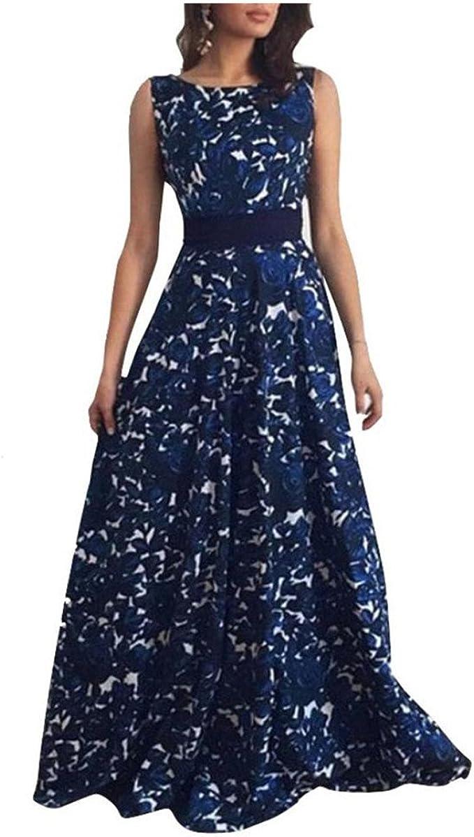 Elecenty Damen Hochzeitskleid Ballkleid Backless Swing-Kleid