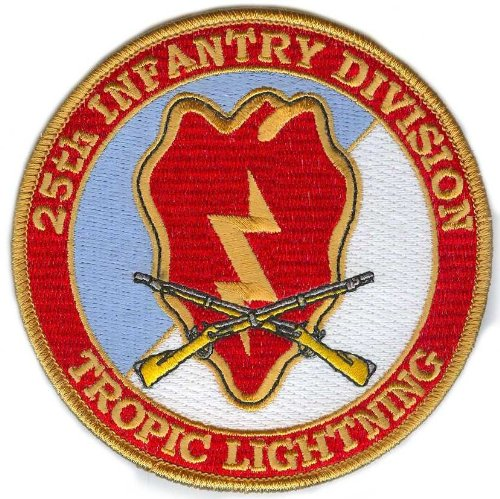 - 25th Infantry Division Patch with Rifles
