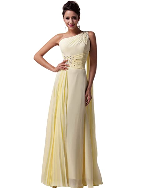 Quissmoda vestido corto largo fiesta, noche, gala, talla 34, color amarillo