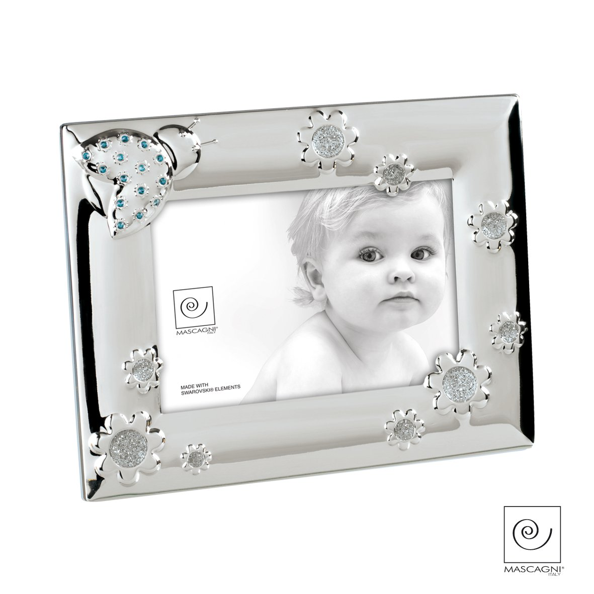 Preferenza Mascagni Cornice Portafoto bambino con cristalli Swarovski metallo  ID08