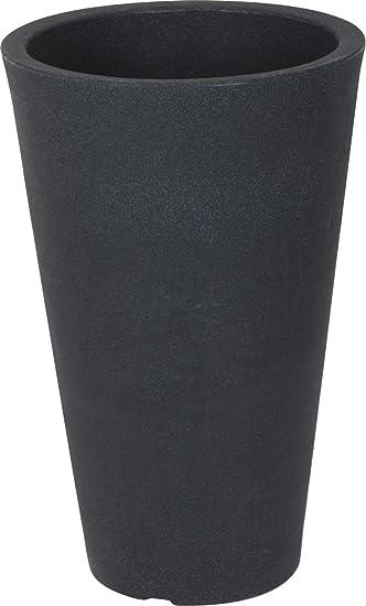 Berühmt XXL Pflanzsäule anthrazit konisch - 70x40 cm - Kunststoff XE63