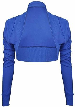 933f7f94392b Purple Hanger - Boléro Court Manche Courte Extensible Femme Grande Taille -  Bleu Roi