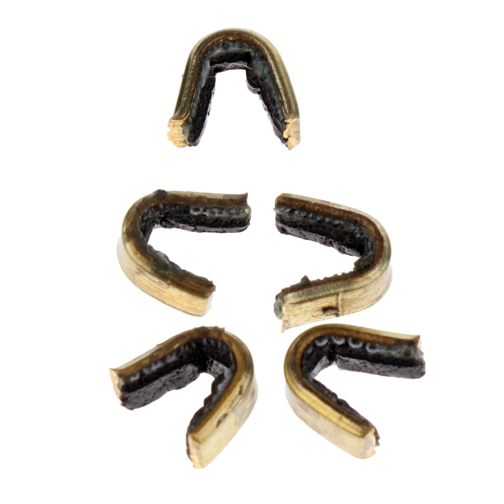 Sharplace Archery String Nocking Points Brass Nock Buckle Clips Bow String Protect Set of 12