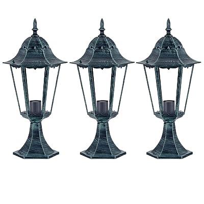 3 X Lampadaire Exterieur Jardin Terrasse Eclairage Luminaire Sur
