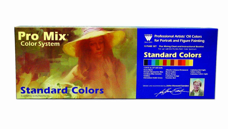 Weber Art John Sanden Pro Mix Standard Color Oil Set 13 Amazon