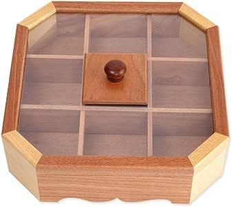 Kasfam - Caja para Aperitivos (Madera, con Tapa, 26 x 30 x 9 cm): Amazon.es: Hogar
