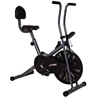 Healthex Exercise Bike with Back Support for Weight Loss and Home Use