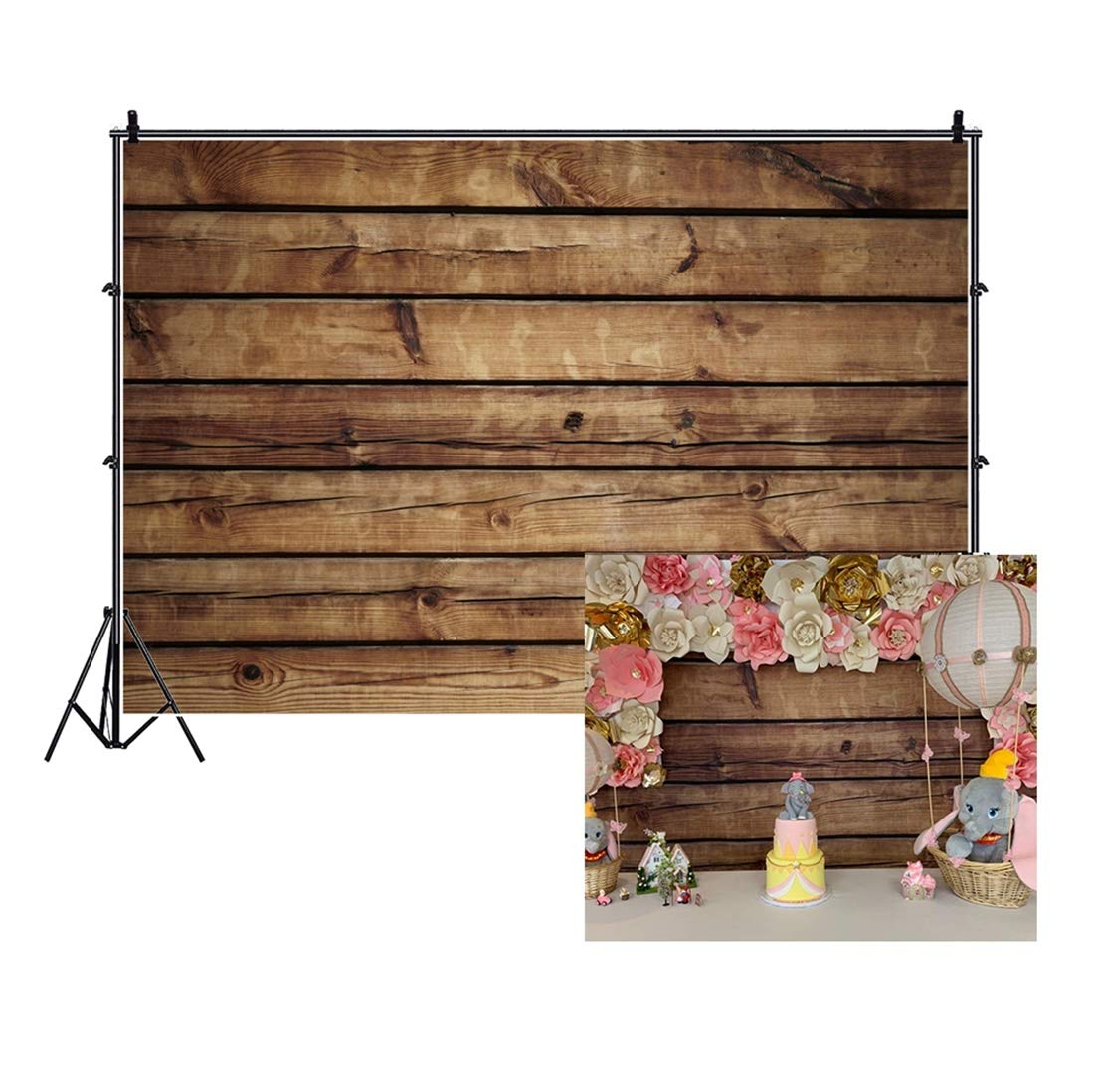 LFEEY 10x8ft Wood Backdrops for Photography Grunge Wood Vintage Worn Wooden Boards Background Seamless Backdrop Gray Wood Photo Backgrounds Wood Wall Wrinkle Free Photography Backdrops Photo Studio by LFEEY