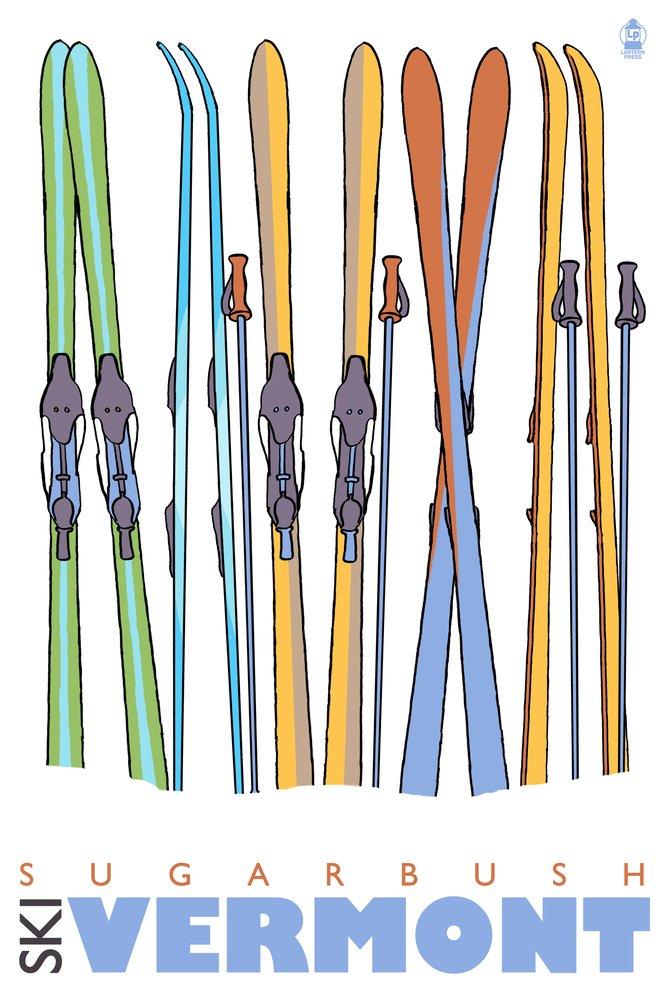 流行に  スキーで雪 – 16 Sugarbush、バーモント州 24 x スキーで雪 36 Giclee Print B00QPZ16NY LANT-25983-24x36 B00QPZ16NY 16 x 24 Giclee Print 16 x 24 Giclee Print, ワダマチ:fa9dc099 --- consumer1st.in