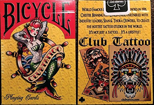 Club Tattoo Mermaid Playing Cards