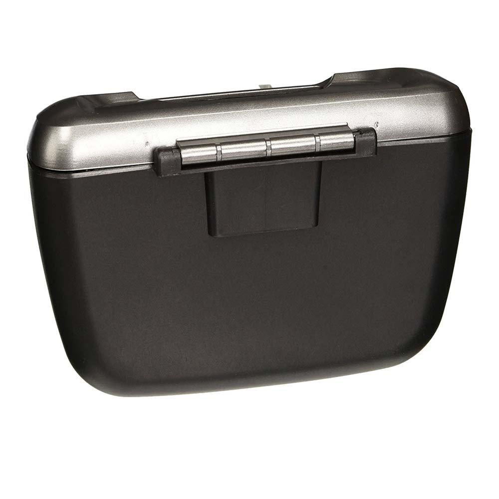ZYHW SD-1601 Black Silver Tone Plastic Compact Trash Can Garbage Bin for Car Auto ZGQ201611220065
