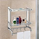 BATHWA Bathroom Shelves with Removable