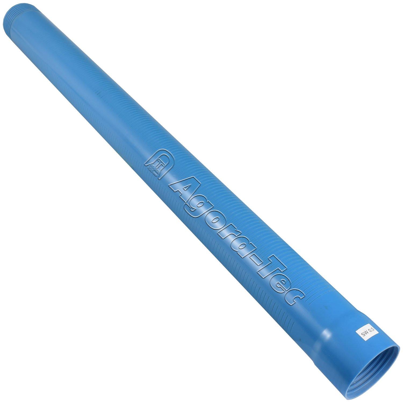 3 Zoll DN 80 blau 1 Meter f/ür den Bau eines Tiefbrunnen Filterrohr Schlitzweite: 0,5mm Agora-Tec Brunnenrohr