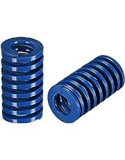 uxcell® 20mm OD 35mm Long Spiral Stamping Light Load Compression Mould Die Spring Blue 2Pcs
