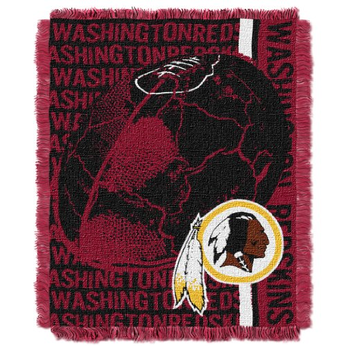 The Northwest Company Officially Licensed NFL Washington Redskins Double Play Jacquard Throw Blanket, 48