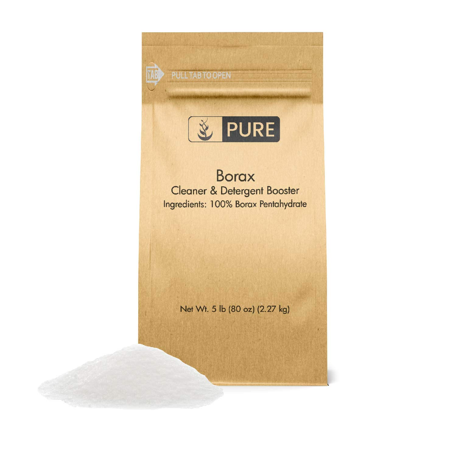 Borax Powder (5 lb.) by Pure Organic Ingredients, All-Natural Multipurpose Cleaner, Detergent Booster, Slime Ingredient by Pure Organic Ingredients
