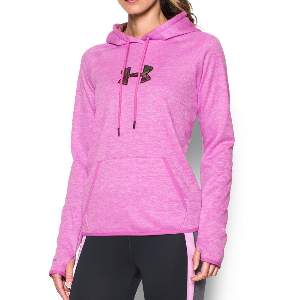 Under Armour Women's Icon Caliber Hoodie, Verve Violet/Realtree Ap-Xtra, X-Large