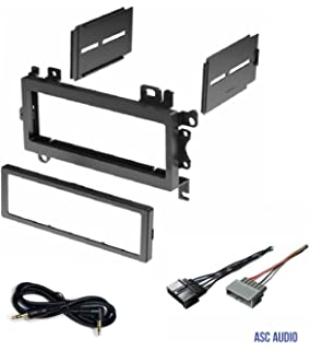 asc car stereo dash install mount kit and wire harness combo to install a  single din