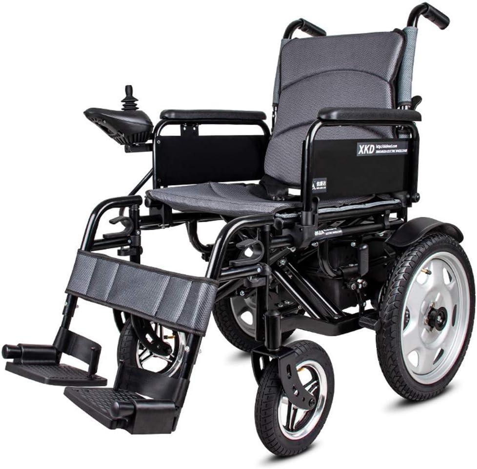 JY Silla de ruedas eléctrica - Silla de ruedas portátil plegable con batería de polímero de iones de litio 20A - para ancianos y discapacitados Silla de ruedas inteligente automátic
