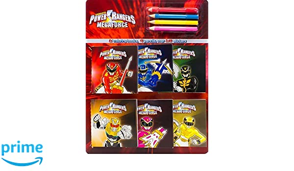 Power Rangers Coloring Book And Pencil Set By Parragon Books 2013 Paperback Amazon