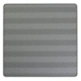 InterDesign Chevron Silicone Heat Resistant Kitchen Countertop Dish Drying Mat - Medium, Gray