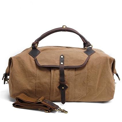 1e90b2875af7 Amazon.com: Ybriefbag Unisex Canvas Traveling Bag, Handbag ...